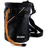 Sukoa Chalk Bag for Rock Climbing - Bouldering Chalk Bag Bucket with Quick-Clip Belt and 2 Large Zippered Pockets - Rock Clim