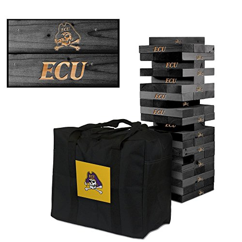 NCAA East Carolina Ecu Pirates 850392East Carolina University Ecu Pirates Onyx Stained Giant Wooden Tumble Tower Game, Multicolor, One Size by Victory Tailgate