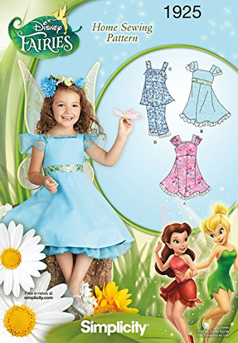 Simplicity Sewing Pattern 1925 Child's Dresses Disney Fairies, Size A (3-4-5-6-7-8) ()