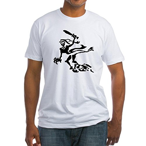 CafePress - 7Th Panzer Ghost Division - - Fitted T-Shirt, Vintage Fit Soft Cotton Tee White