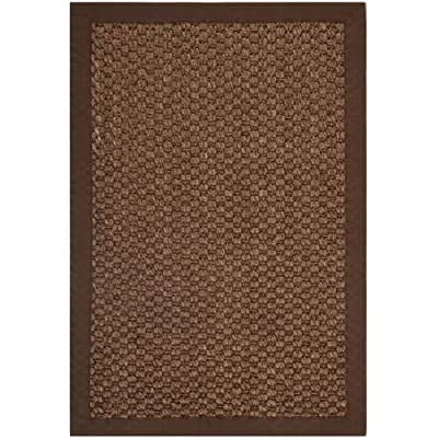 Safavieh Natural Fiber Collection NF525D Chocolate Sisal Area Rug (2' x 3') - Construction Power Loomed Fiber/Finish 100% Sisal Pile Backing Power Loomed Rugs Do Not Use Backing Material On The Underside Of The Rug. A Thin Coat Of Latex Is Applied To The Underside Of The Rug To Secure The Yarns Firmly In Place. This Latex Coat Is Virtually Invisible And Is Not Considered Backing Material. - runner-rugs, entryway-furniture-decor, entryway-laundry-room - 51PPh8ZysZL. SS400  -