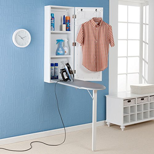Upton Home Wall- Mounted Ironing Board and Storage Center Keeps Everything Conveniently Located in One Space- Saving Area by Upton Home