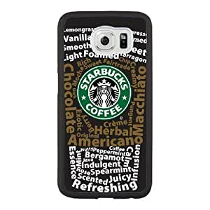Grouden R Create and Design Phone Case,starbucks logo Cell Phone Case for Samsung Galaxy S6 Black + Tempered Glass Screen Protector (Free) GHL-2963544