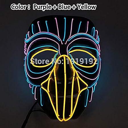 2019 LED Máscara de Halloween Máscaras de purga de películas ...