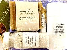 Mountain Fresh Soaps GIFT SET ~ Artisan, Organic, & All-Natural Soap, Lotion, Lip Balm, & Bath Salt (Lavender Medley)