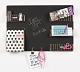 DesignOvation Dinah Decorative Wall Chalkboard with Five Metal Baskets & Two Key Hooks, Copper (209301)