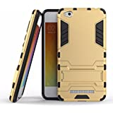 TARKAN Heavy Duty Shockproof Armor Kickstand Back Case Cover for Xiaomi Redmi 4A 5.0 Inch [Gold]