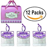 #9: QUIET 12 Packs Best Moth Protection Repellent, Lavender Sachets for Drawers and Closets Clothing, Shoe Cabinet Etc, Fresh Smell