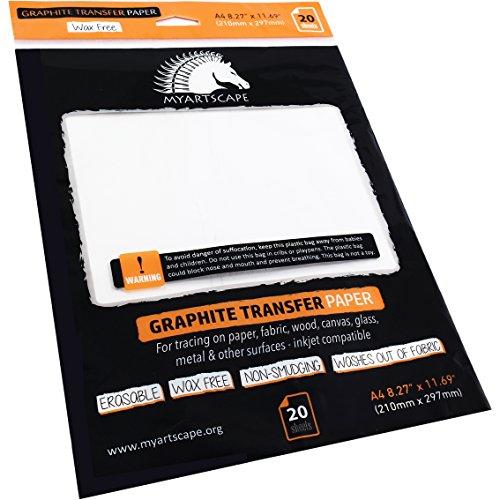 Graphite Paper - Wax Free - White (20 Sheets)