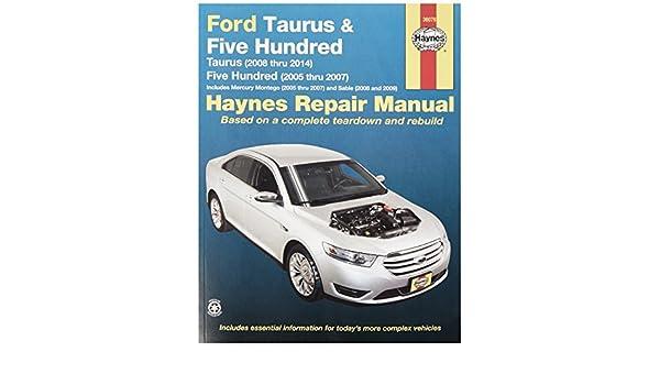 haynes 36076 ford taurus repair manual throttle position amazon rh amazon ca 2006 Taurus 2009 ford taurus repair manual