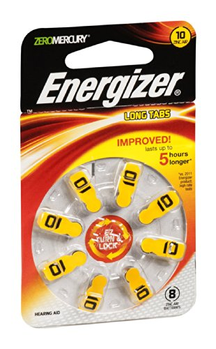 Energizer AZ10DP-8 1.4 Volt #10 Hearing Aid Batteries 8 Count Pack of 18 (Eveready Hearing Aid Batteries)