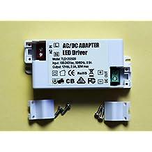Eforlighting AC 100-240V to DC 12V 2.5A SMD LED Driver Power Transformer for MR11/G4/MR16/GU5.3 Light Bulbs 30W AC / DC Adapter LED Driver Power Supply Transformer Converter