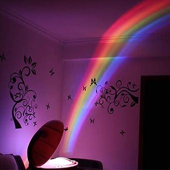 3 modos RGB LED Lámpara Colorido Led Creativo Luz nocturna ...