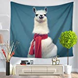 3D Alpaca Tapestry - MeMoreCool 100% Polyester Animal Designed Good Home Hanging Blankets 59 X 51 Inch
