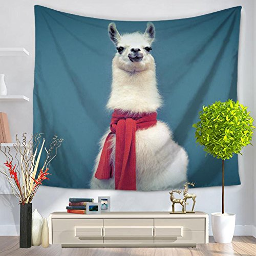 3D Alpaca Tapestry - MeMoreCool 100% Polyester Animal Designed Good Home Hanging Blankets 59 X 51 Inch by MeMoreCool