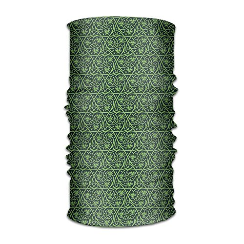 TRUSTINEE Women Man Turban National Foliage Pattern Intricate Twigs and Dots Trefoil Botanical Abstraction Leisure ()