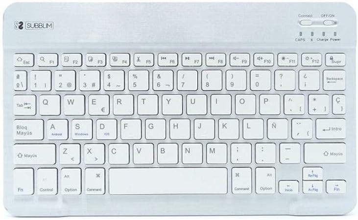 SUBBLIM Smart BT Keyboard Silver: Amazon.es: Informática