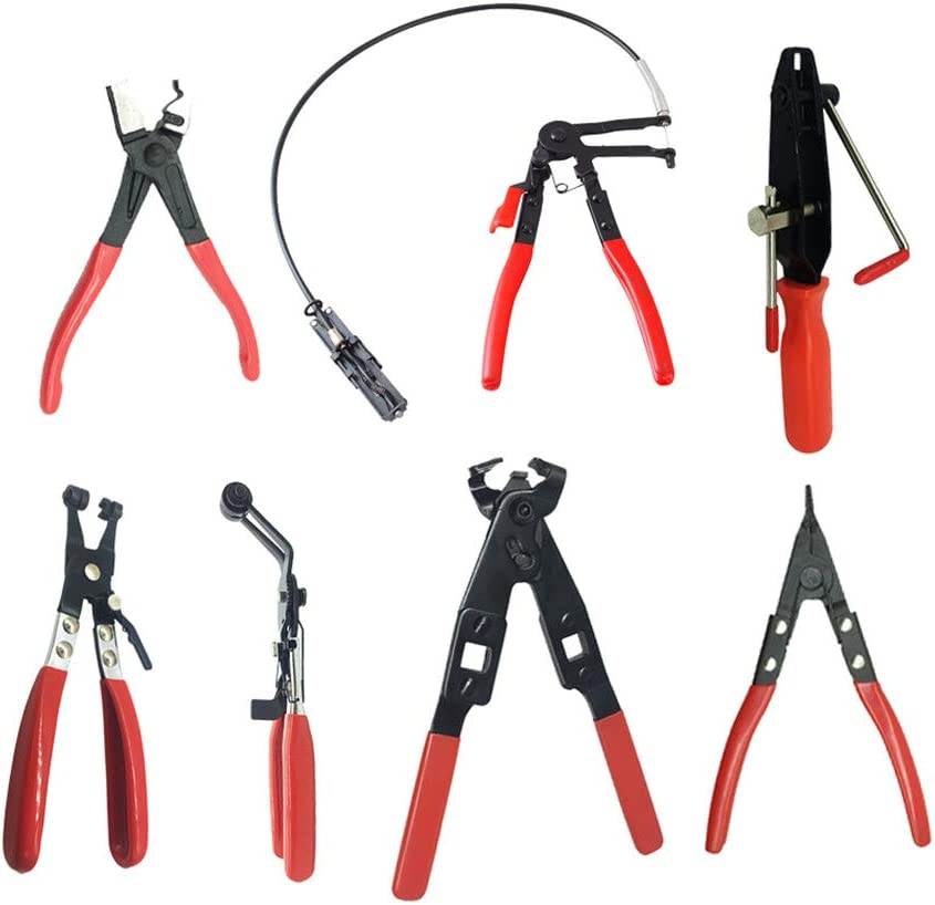 Cable Type Flexible Wire Long Reach Hose Clamp Pliers Multi-Tool Car Repairs Removal Hand Tools Auto Vehicle Tools E B