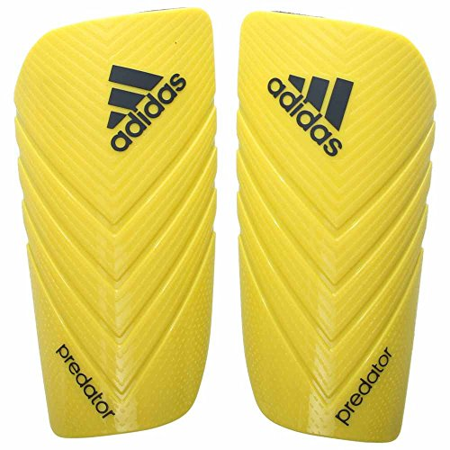 adidas Performance Predator Lesto Shin Guard, Bright Yellow/Dark Grey, Small (Soccer In Guards Slip Shin)