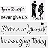 Vinyl Mirror Wall Decals Quotes Stickers for Living...