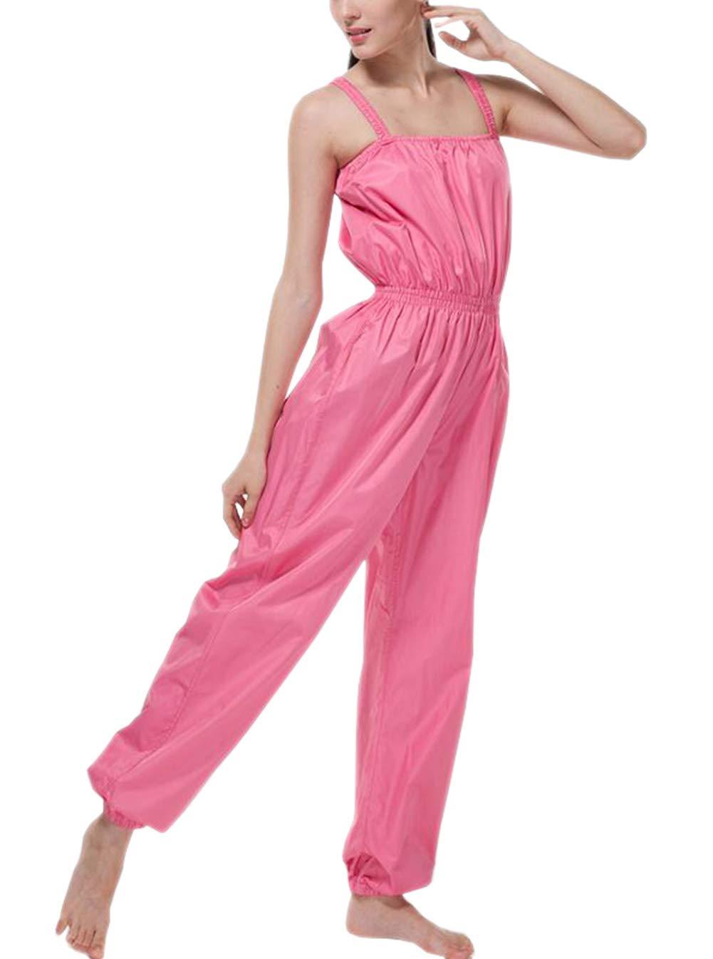 Women 's Professional損失重量スーツワンピースSweat Suit Enhanced Sauna Suit with内側メッシュ XL: waist:25.59\ フクシャ B00KXW7F08