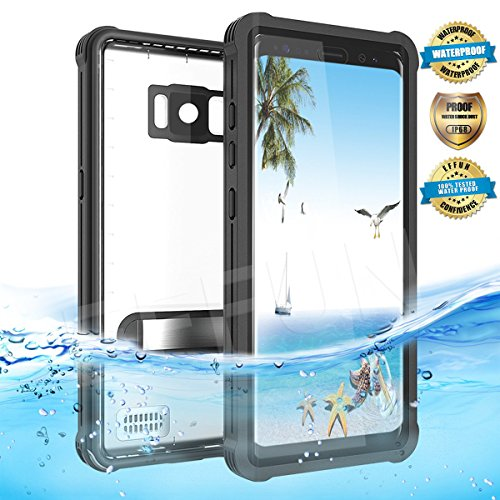 Samsung Galaxy S8 Waterproof Case, Effun IP68 Certified Waterproof Underwater Cover Dustproof Snowproof Shockproof Case with Kick Stand, PH Test Paper and Floating Strap for Samsung S8 (5.8inch) - Glasses Waterproof