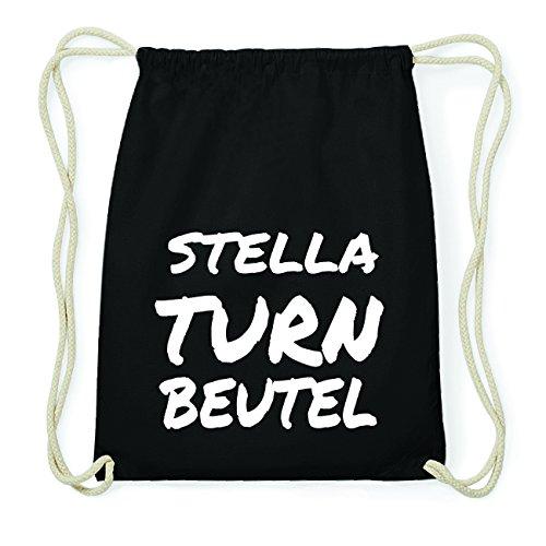 JOllify STELLA Hipster Turnbeutel Tasche Rucksack aus Baumwolle - Farbe: schwarz Design: Turnbeutel SZQNm63