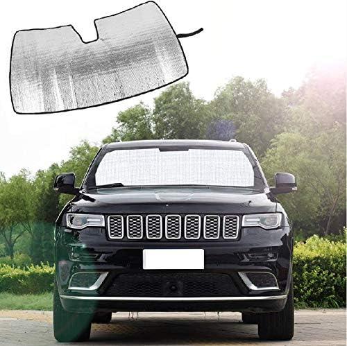 RT-TCZ Windshield Sun Shade Foldable Sun Visor Aluminum Foil Sunshade for 2011-2020 Jeep Grand Cherokee