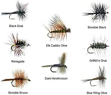 12 Olives Dry Fly  6 patterns Trout Flyfishing Flies Dragonflies