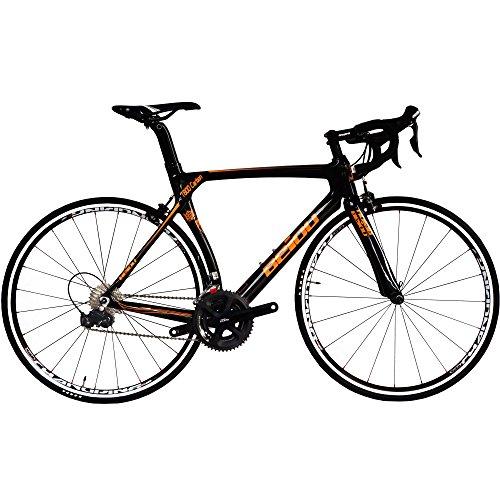 BEIOU 700C Road Bike Shimano 105 5800 22 Speeds Racing Bicycle upgraded to 105 crankset 500mm 520mm 540mm 560mm T800 Carbon Fiber Bike Ultra-light...