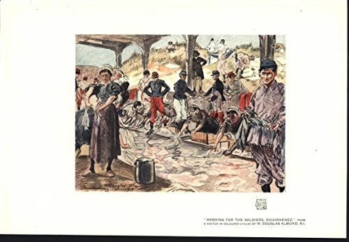 - Washing for the Soldiers France by Douglas Almond 1915 vintage color art print