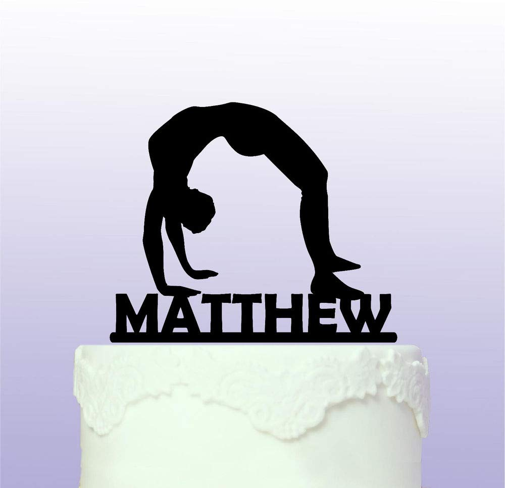 Personalised Male Gymnastics Cake Topper Gym Gymnast