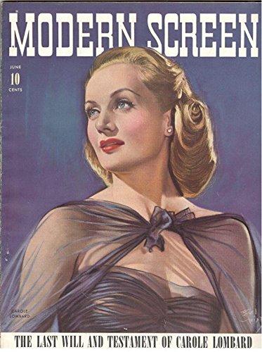 Modern Screen Magazine (Carole Lombard Cover,June 1942)