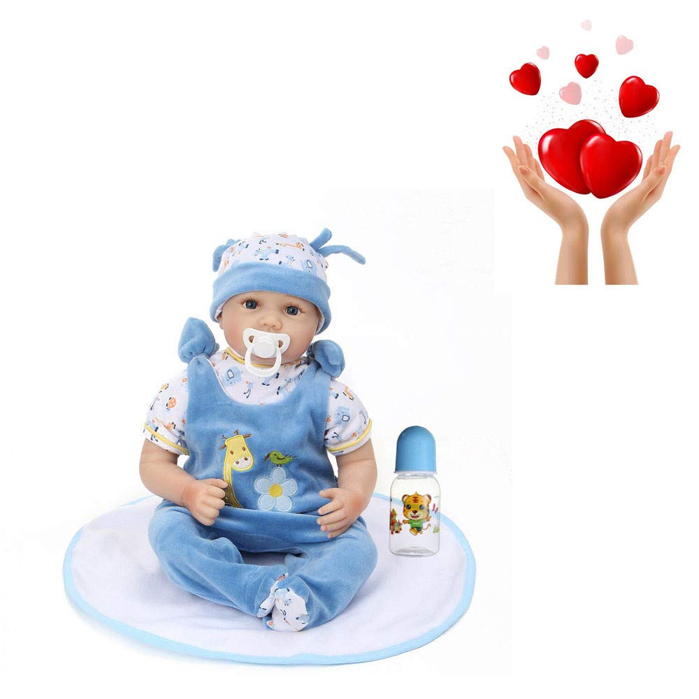 DOGZI Muñecas Reborn Lifelike Reborn Bebé Muñecas Vinilo de Silicona Realista Hecho a Mano Bebés para Niñas Juguetes Reborn Baby Dolls, Conveniente para la Edad 3 Más,43-70cm