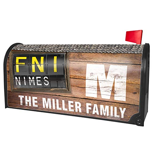 NEONBLOND Custom Mailbox Cover FNI Airport Code for Nimes
