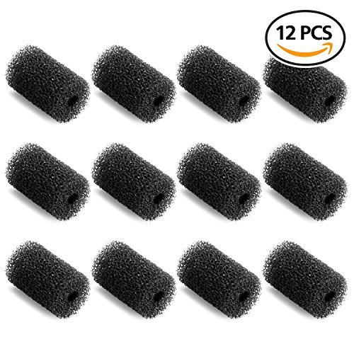 GiBot 12 Pack Professional Sweep Hose Scrubber Tail Replacement Scrubbers Fits Polaris 180, 280, 360, 380, 480, 3900 Sport Vac-Sweep Pool Cleaner Sweep Hose Scrubber 9-100-3105, Black