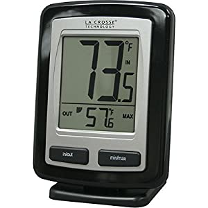 La Crosse Technology WS-9009BK-IT-CBP Wireless Outdoor temperature station with Indoor thermometer, MIN/MAX records