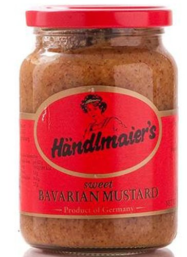 Case of Handlmaier / Haendlmaier Sweet Bavarian Mustard (12 x 13.4 oz Glass Jars)