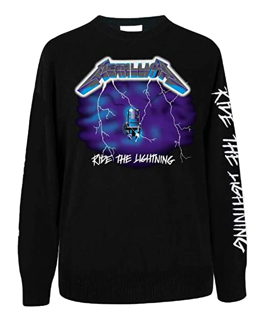 00dde2b0 METALLICA Ride The Lightening Mens Music Long Sleeve Shirt: Amazon ...
