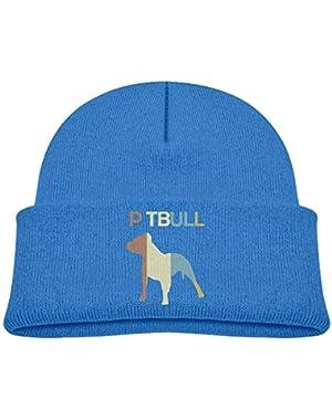 Funny Pitbull Vintage Printed Baby Boy Girls Winter Hat Beanie