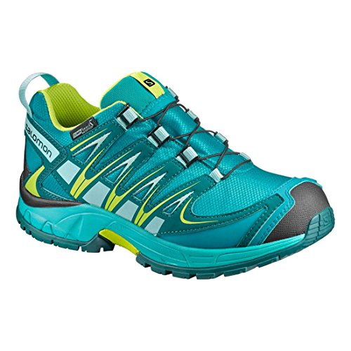 Salomon Xa Pro 3d Cswp K, Zapatillas Unisex Bebé Azul (Deep Peacock Blue/Ceramic/Lime Punch.)