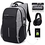 KAKA Anti Theft Backpack Waterproof Business Backpack for Men Women,Travel Laptop Backpack 17inch Computer with USB Charging Port College School Students