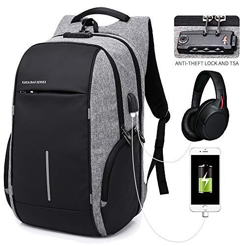 KAKA Anti Theft Backpack Waterproof Business Backpack for Men Women
