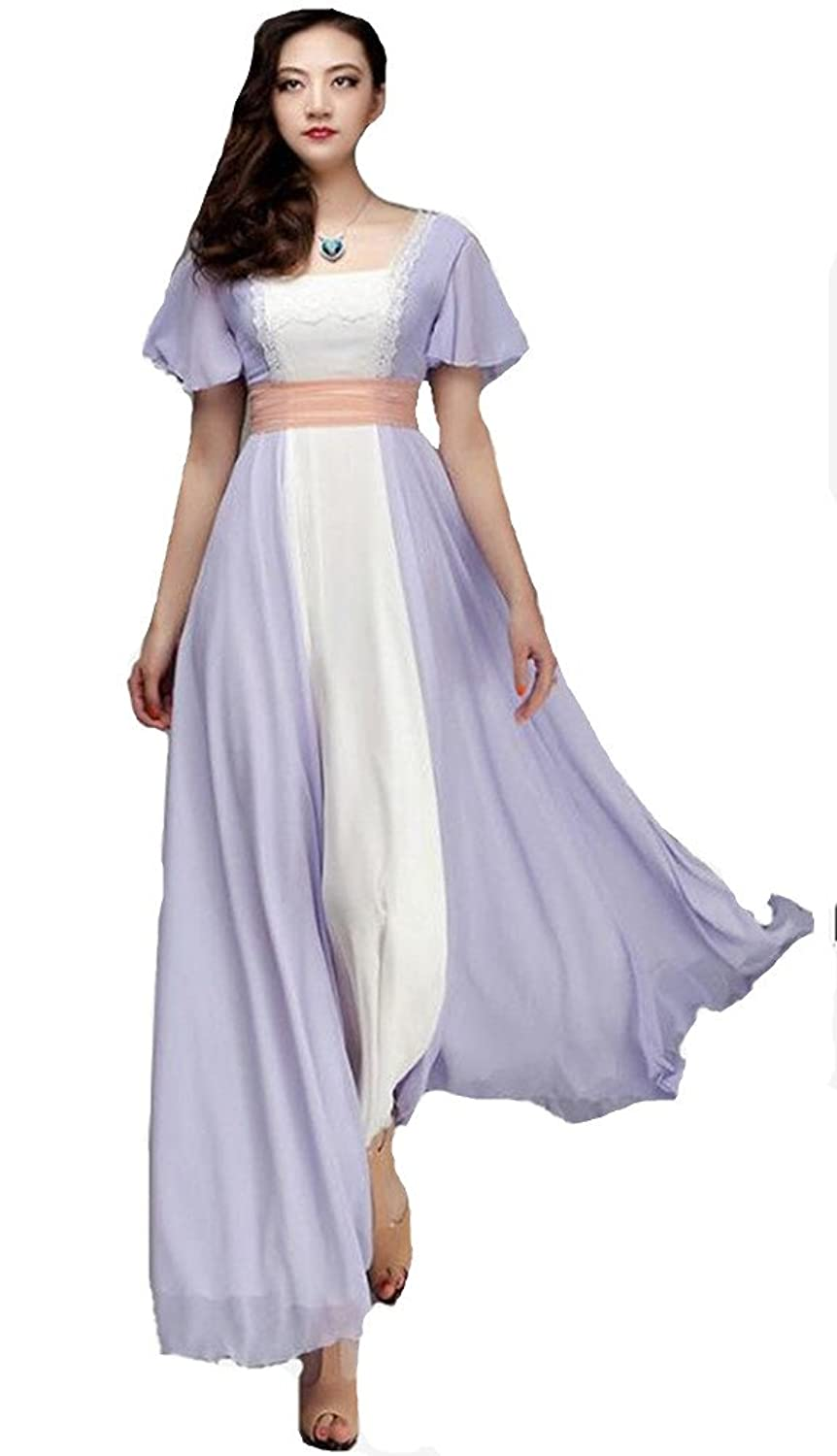 1900s, 1910s, WW1, Titanic Costumes Formaldresses Titanic Rose Chiffon Celebrity Dress Evening Dress Prom Gown Maxi Dress $97.00 AT vintagedancer.com