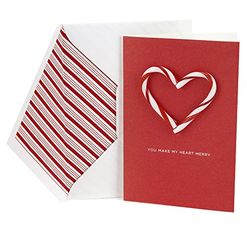 Hallmark Signature Holiday Greeting Card (Candy Cane Heart)