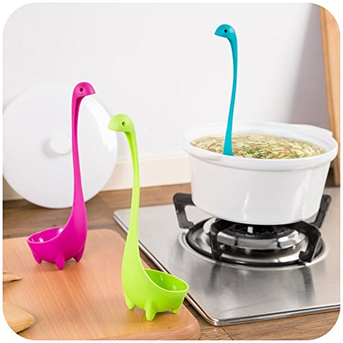 1pc Nessie Spoon Creative Cute Dinosau Spoon Large Soup Spoon Kitchen Utensils Cooking Tools (Cute And Creative Costumes)