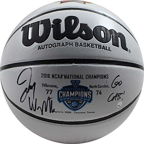 Steiner Sports Jay Wright Signed Wilson NCAA 2016 Championship White Panel Basketball