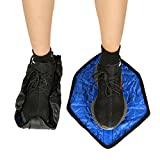 HK Step in Sock Covers Reusable One Step Automatic Shoe Cover Anti-Slip Durable Snap Pair
