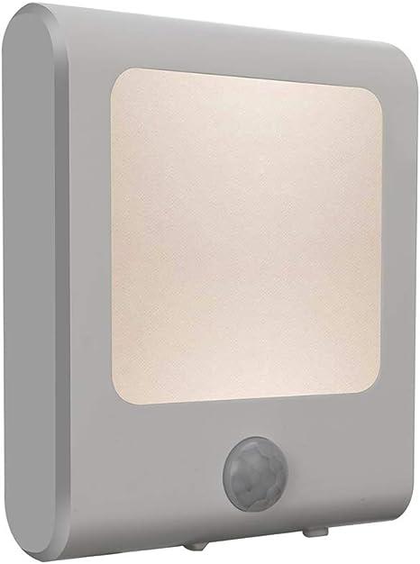 Plug-in Nightlight with Auto Dusk to Dawn Sensor Kitchen Vintar Motion Sensor Dimmable LED Night Light Adjustable Brightness Warm White Lights for Hallway Stairway Bedroom Bathroom Kids Room