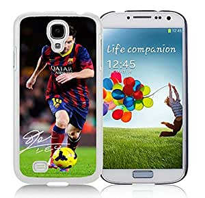 Soccer Player Lionel Messi(1) White Samsung Galaxy S4 Cellphone Case DIY and Durable Cover